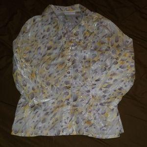 Alfredo dunner petite button down blouse